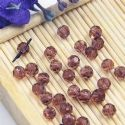 Beads, Selenial Crystal, Crystal, Dark purple , Faceted Rounds, Diameter 4mm, 10 Beads, [ZZC211]